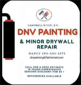 Painting & Minor Drywall Repair service in Campbell River Campbell River Comox Valley Area image 1