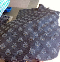 Queen size bed skirt, quilt cover and pillow cover,