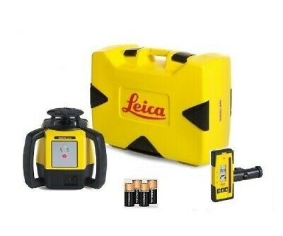Rotating Laser Leica Rugby 610 W Rod Eye 120 Alkaline Battery Kit