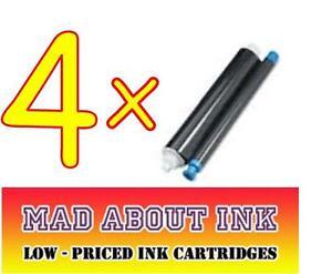 4x-Panasonic-KX-FA52X-Fax-Pelicula-De-Tinta-Rollos-KX-FP205-KX-FP207-KX-FP215