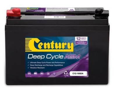 CENTURY DEEP CYCLE AGM 105AH BATTERY HEAVY DUTY DEPENDABLE DEEP C