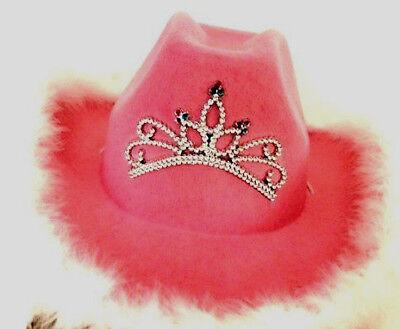 10 x Damen Jungesellinnen Abschied Cowgirl Hut PINK - Hochzeit Motto Party Kostüme