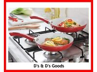 Set Of 2 Ceramic Frying Pans-NEW