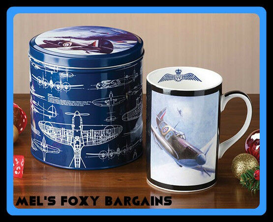 RAF Fine China Mug And Tin-New