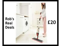 3-In-1 Spray Mop With Free Window Wiper Attachment !