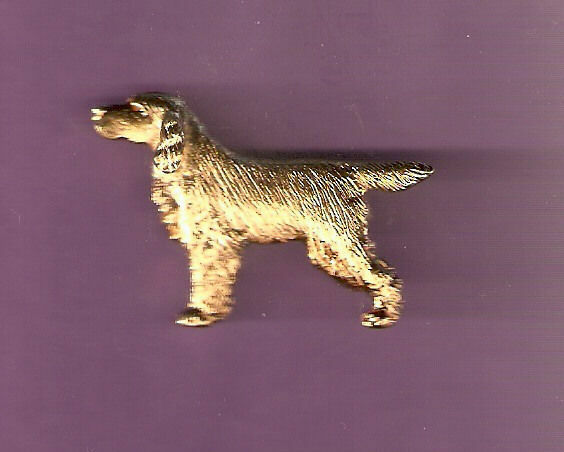 Gordon Setter Gold Plated Brooch Pin Jewelry