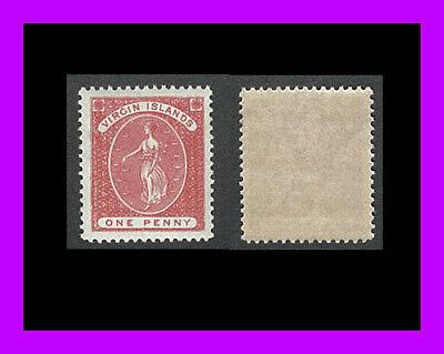Virgin Islands: 1889 VIRGIN WITH LAMPS - mint/no-hinge - deep red - Scott 19