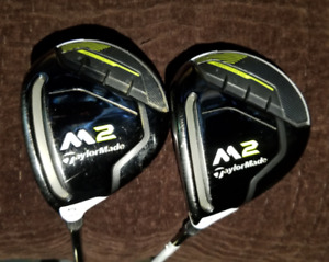 Taylormade 2017 M2 fairway woods 3w, 5w, left handed, lh