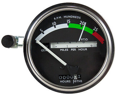 John Deere New White Needle Tachometer Powershift 2510 2520 3020 4020