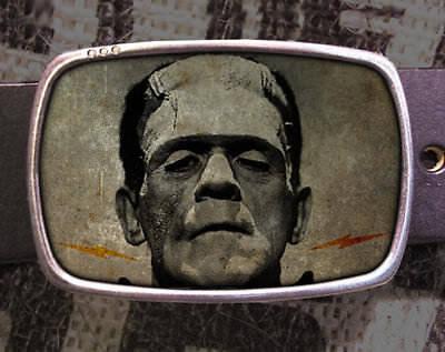 Frankenstein Vintage Monster Halloween Inspired Art Gift Belt Buckle - Halloween Inspired