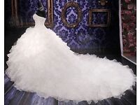 3 in 1 Set Bold Ruffles Sparkly Wedding Gown