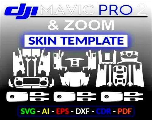DJI Mavic Pro 2 & Mavic Pro Zoom Skin Wrap Cut Template SVG Vinyl Cutter Cricut