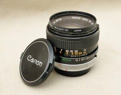 Canon FD 50mm f1.4 S.S.C. lens - needs service - F-1 FtB A-1 AE-1 Program T50