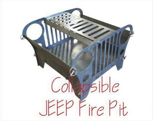 DXF CNC Plasma Laser Cut Ready Vector Collapsible Jeep Type Fire Pit