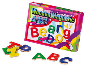Details about Wooden Toys - Magnetic Letters, Magnetic Board, Fridge ...