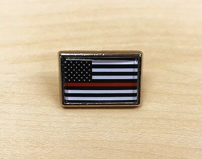 Thin RED Line Flag Lapel Pin / Hat Pin / Tie Tack FIREFIGHTER SUPPORT](Thin Red Tie)