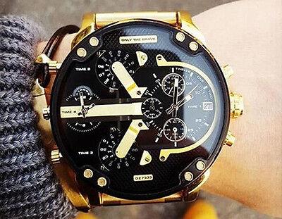 DIESEL MR.DADDY 2.0 DZ7333 Black Dial Gold-tone Stainless Steel Men's Watch