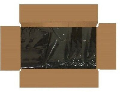 100 x Virgin Heavy Duty Black Refuse / Rubbish Sacks Bin Bags 250 Gauge