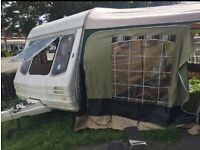 RENOVATED SWIFT RAPIDE 450\5 5 BERTH CARAVAN WITH FULL AWNING AND EXTRAS