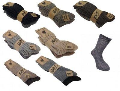 S70X 2 Paar Alpaka Socken flauschig warme Wollsocken Wintersocken ()