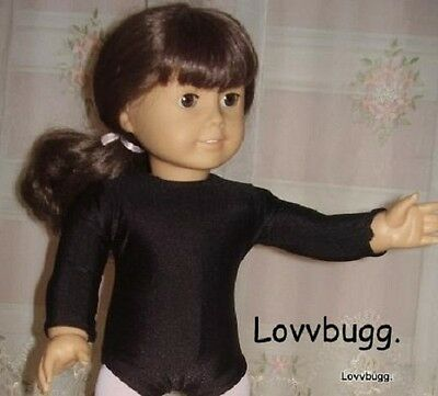 "Lovvbugg Black Ballet Dance Leotard Clothes for 18"" American Girl Doll Clothes"