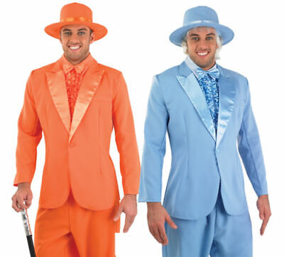 Mens Suit Dumb & Dumber Harry & Lloyd Fancy Dress Costume Pimp Stag Outfit  (Dumb And Dumber Suit)
