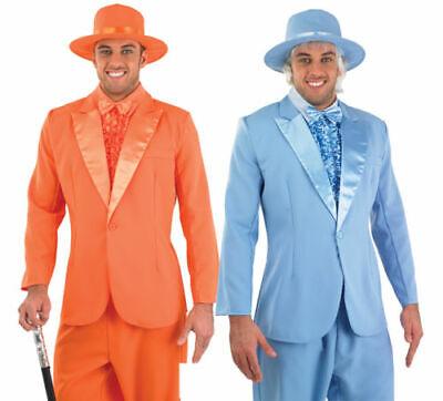 Mens Suit Dumb & Dumber Harry & Lloyd Fancy Dress Costume Pimp Stag Outfit