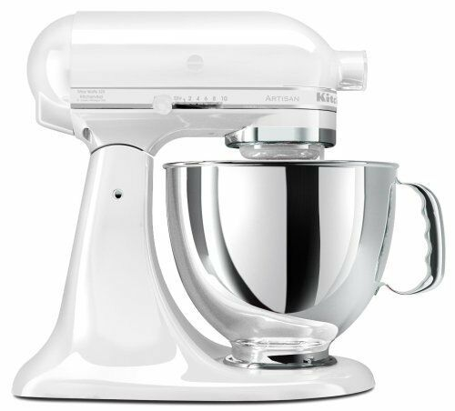 KitchenAid Stand Mixer tilt 5-QT RRK150 Artisan Tilt Choose The Beautiful Colors White on White ww
