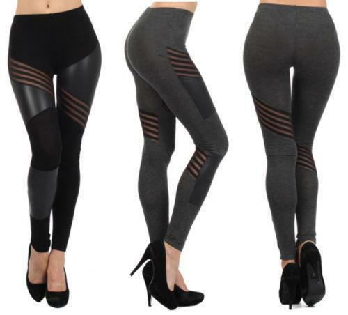 mesh cut out leggings ebay. Black Bedroom Furniture Sets. Home Design Ideas