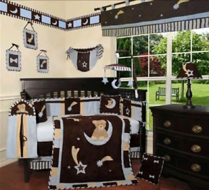Beautiful boys bedroom/crib set