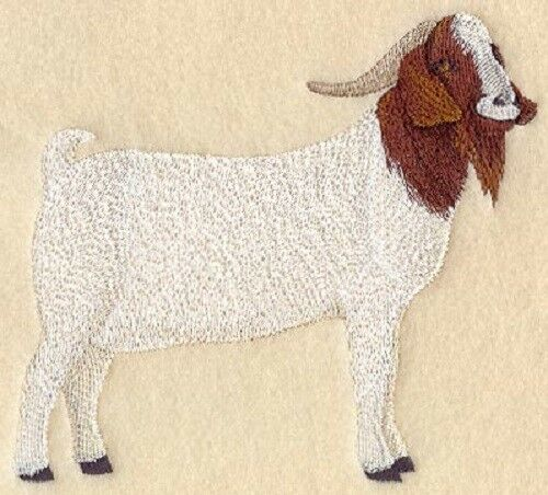 Embroidered Ladies Fleece Jacket - Boer Goat A6652 Sizes S - XXL
