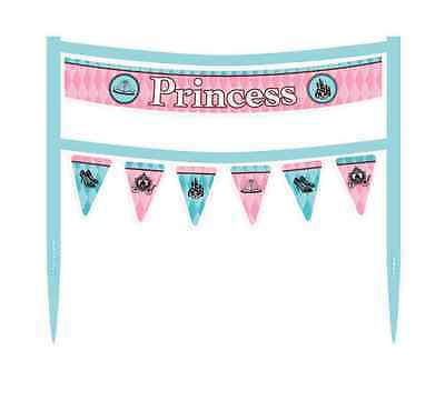 FAIRYTALE PRINCESS CAKE BANNER ~ Birthday Party Supplies Decorations Banner - Princess Cake Decorating Supplies