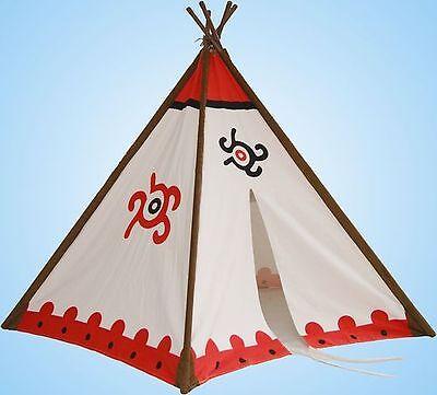 """Tipi Wigwam Indianerzelt mit Metall-Stangen 180 x 140cm """"Hohe Qualität"""" 52052"""