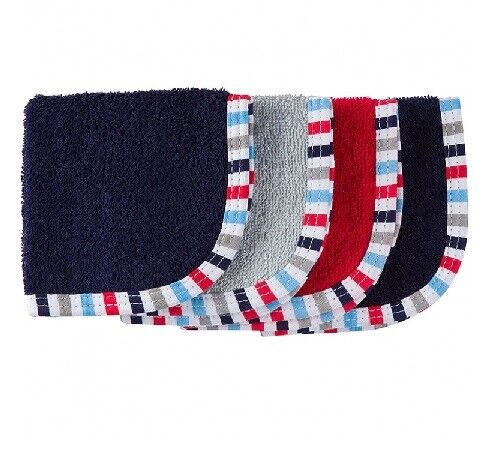 Gerber Baby Boy 4-Pack Navy & Red Premium Woven Washcloths