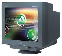 "2 free NEC 22"" crt monitors black"