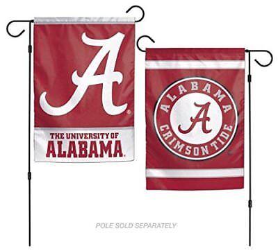 12x18 Alabama Crimson Tide 2 Side Double Sided Garden Flag Wall Banner FAST SHIP ()