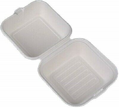 Disposable Hamburger Clamshell Container Food Take Out Box To-go 6 125pcs