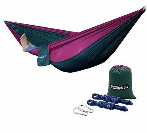 Eno Nylon Camping Hammock Lightweight Hanging Parachute Portable w/Tree Straps