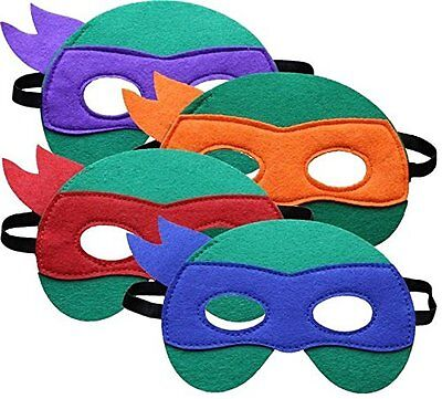 Teenage Mutant Ninja Turtle Face Mask Raphael Leonardo Michelangelo approx 6.5