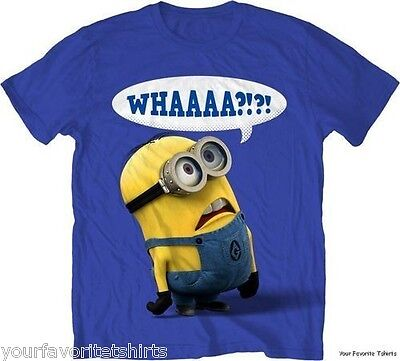Despicable Me Minion Whaaa?!?! Licensed Adult T Shirt - Minion Adult T Shirt