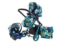 Brand new Cosatto Travel System Pram Car Seat Baby Pushchair