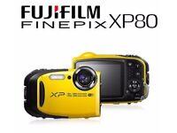 Fujifilm FinePix XP80 16.4MP Lifeproof Digital Camera - Yellow - RRP: £199.99