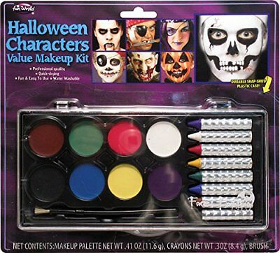 Halloween Characters Value Makeup Kit With Durable Snap Close Case