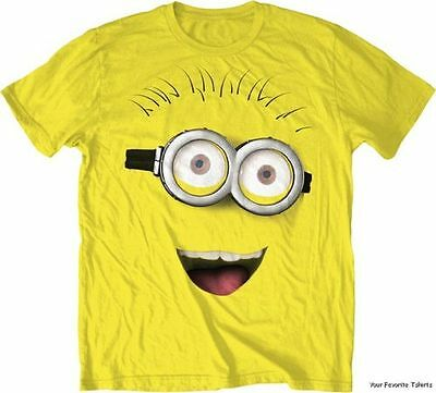 Despicable Me Minion Big Face Licensed Adult T - Adult Minion Shirt