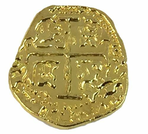 Pirate Treasure Coins - 100 Metal Gold Colored Doubloon Props 1