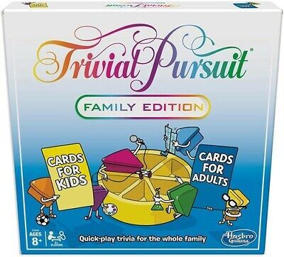 Hasbro Gaming - Trivial Pursuit Family Edition [New ] Dice Game, Table Top Gam