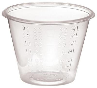 - Medicine Cups 1 oz Plastic Graduated LOT OF 500-Free Shipping