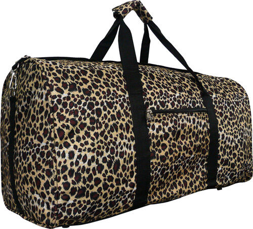 "22"" Women's Leopard Print Gym Dance Cheer Travel Carry On Du"