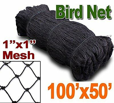 Bird Netting 50ft X 100ft Net Netting For Bird Poultry Avaiary Game Pens 1 Hole