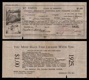 Vintage hunting license ebay for Indiana hunting and fishing license